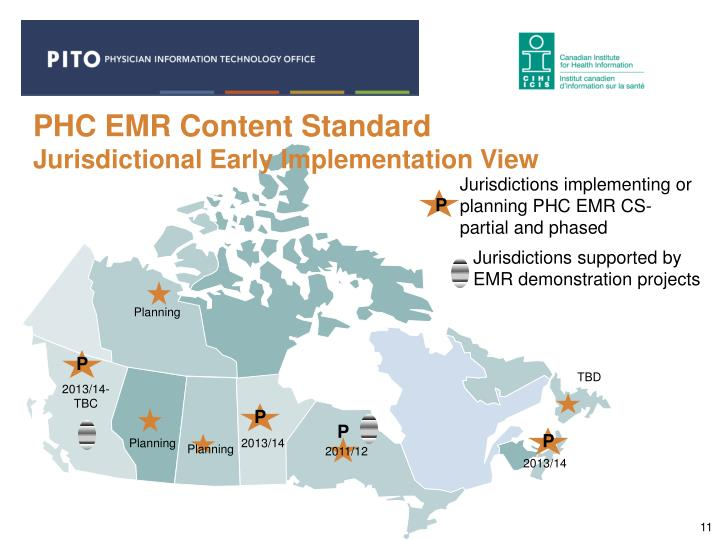 PHC EMR Content Standard