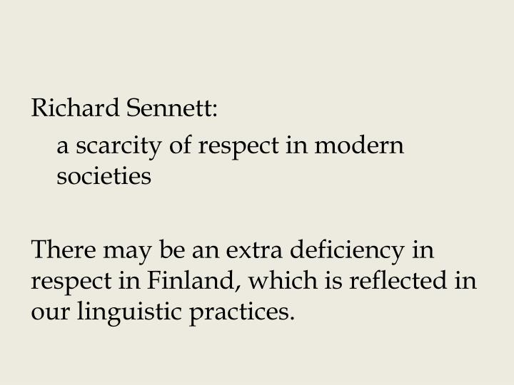 Richard Sennett: