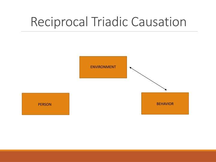 Triadic reciprocal determinism example