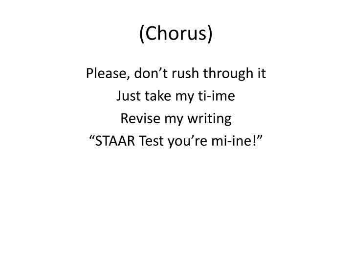 (Chorus)