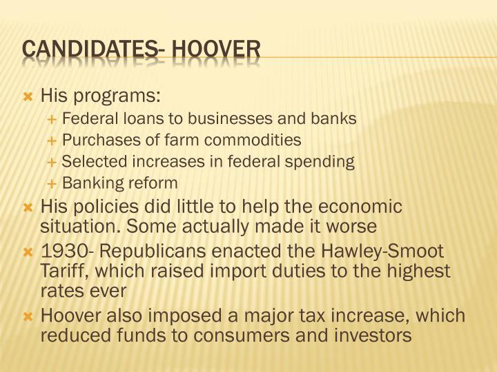 His programs: