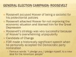 general election campaign roosevelt
