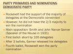 party primaries and nominations democratic party