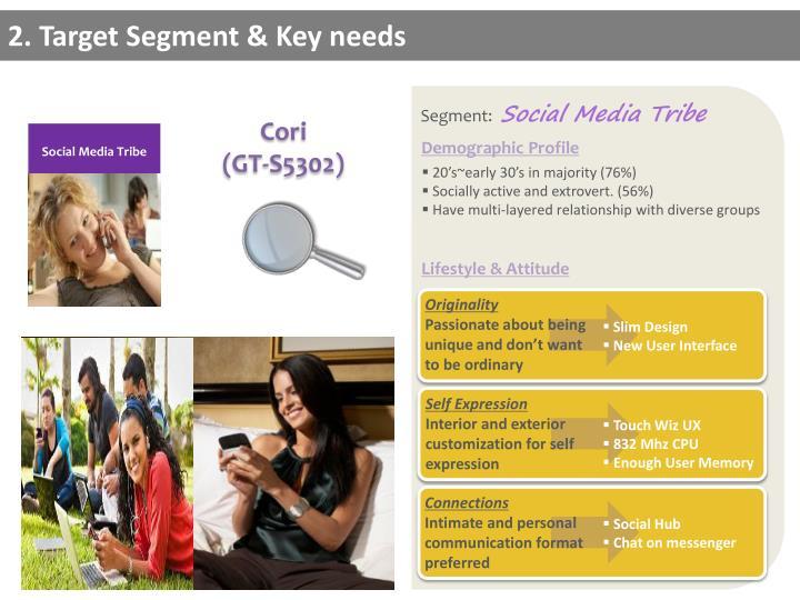 2. Target Segment & Key needs