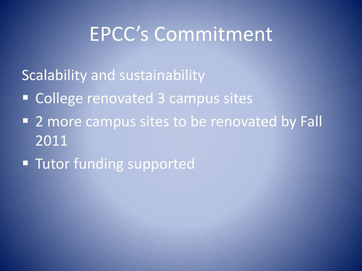 EPCC's Commitment