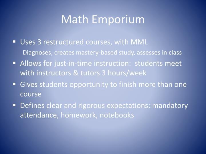 Math Emporium
