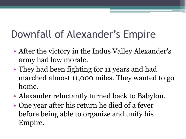 Downfall of Alexander's Empire