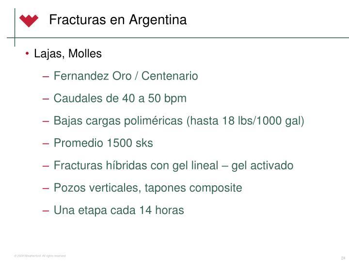 Fracturas en Argentina