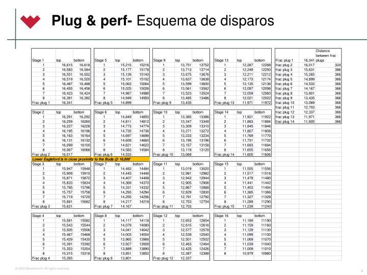 Plug & perf-