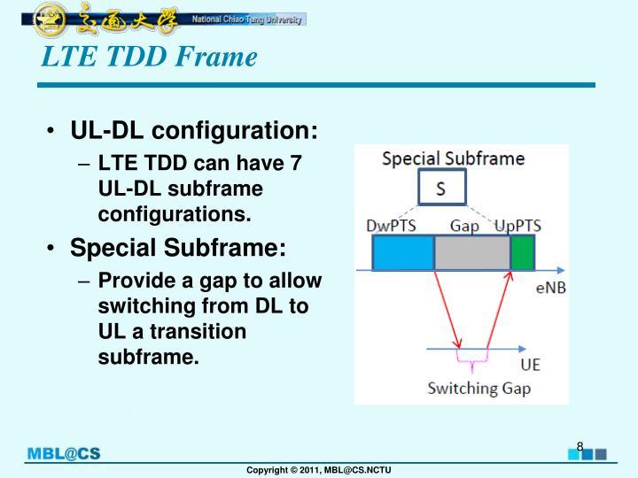 LTE TDD Frame