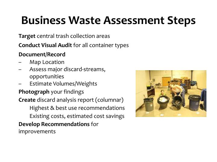Business Waste Assessment Steps