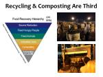 recycling composting are third