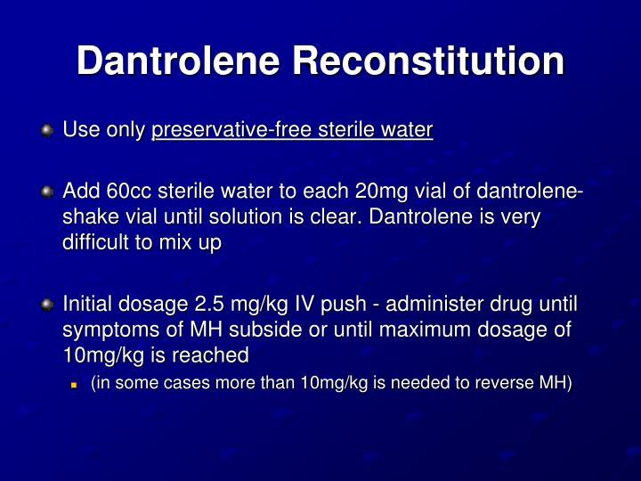 Dantrolene Reconstitution