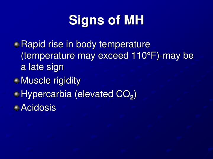 Signs of MH