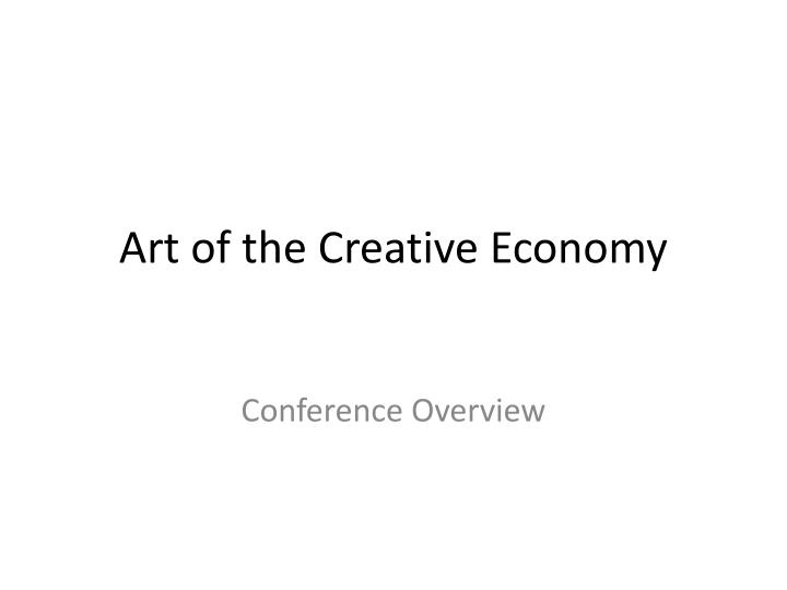 Art of the creative economy