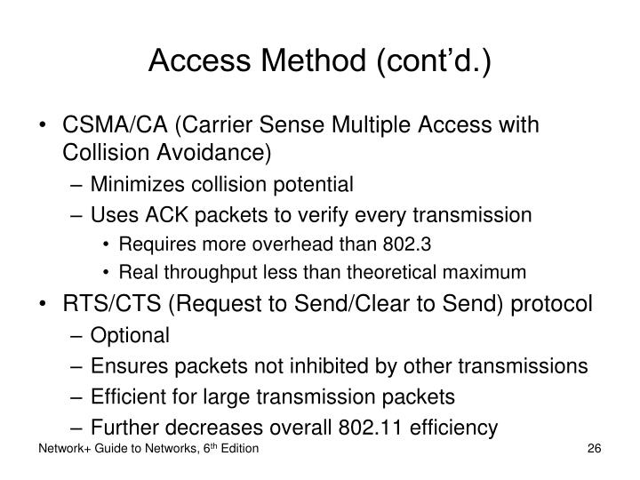 Access Method (cont'd.)