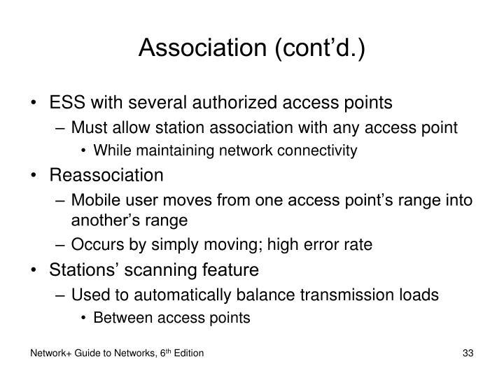 Association (cont'd.)