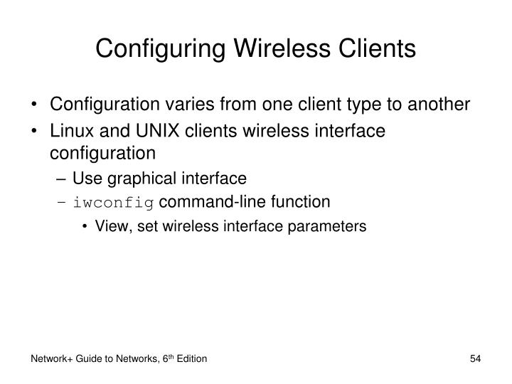 Configuring Wireless Clients