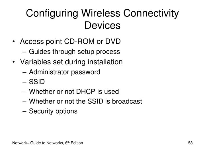 Configuring Wireless Connectivity Devices