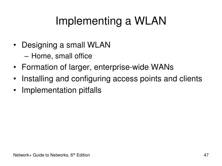 Implementing a WLAN