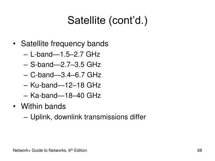 Satellite (cont'd.)