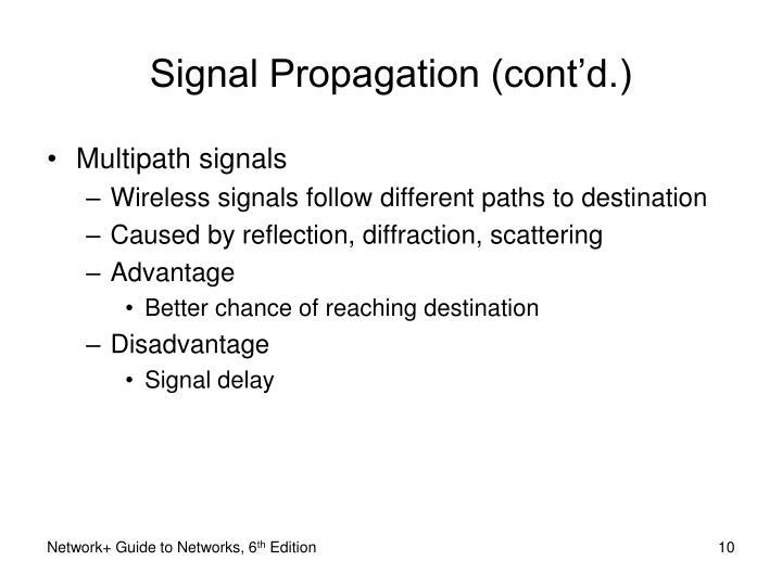 Signal Propagation (cont'd.)
