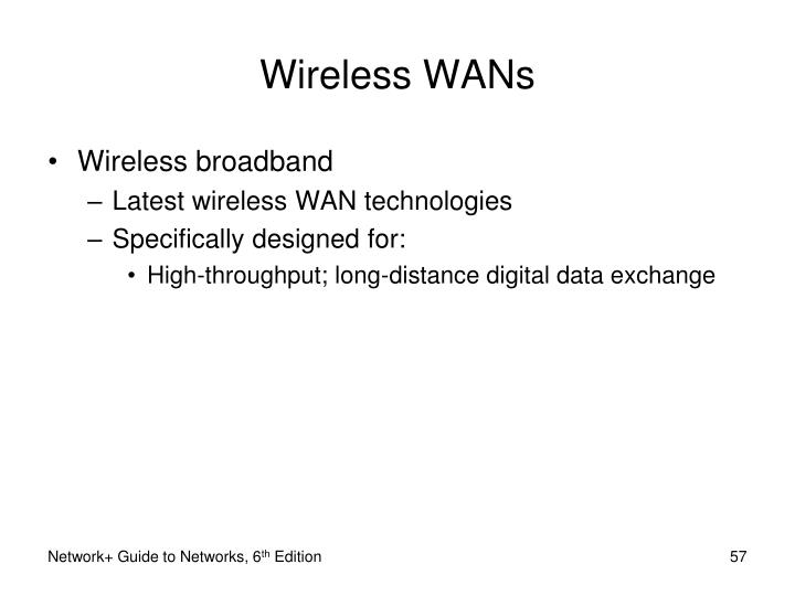 Wireless WANs