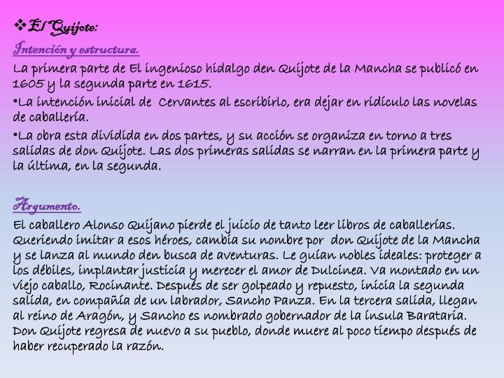 El Quijote: