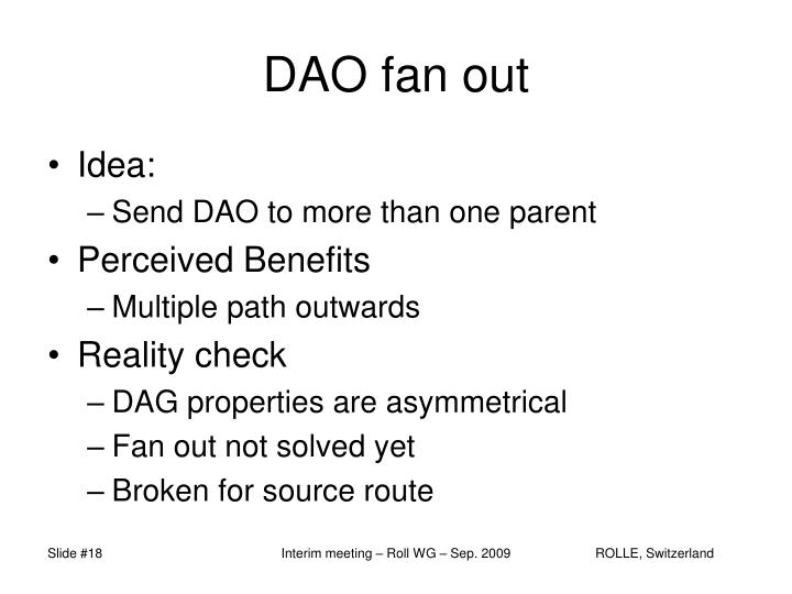 DAO fan out