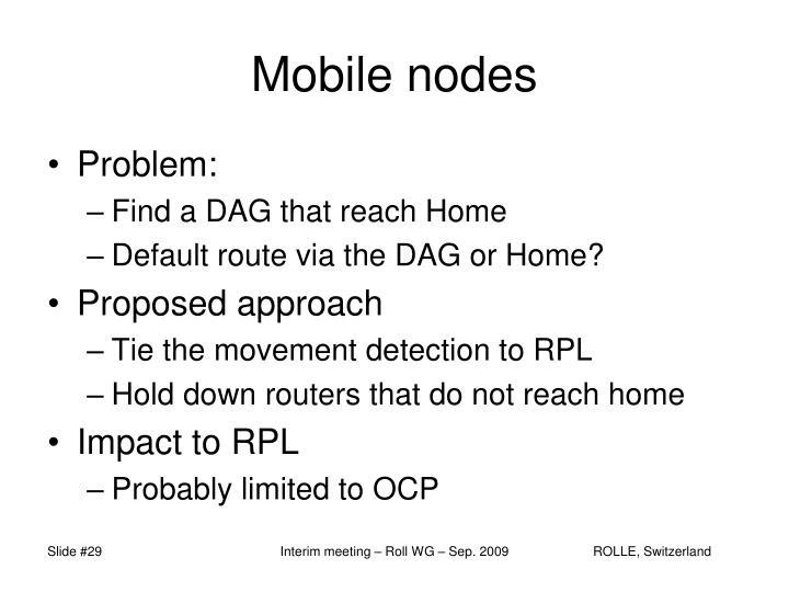 Mobile nodes