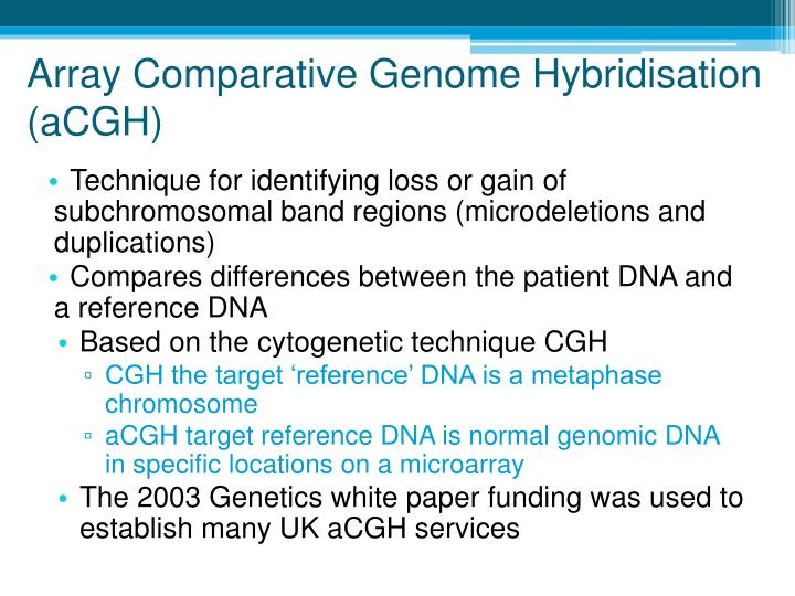 Array Comparative Genome Hybridisation (