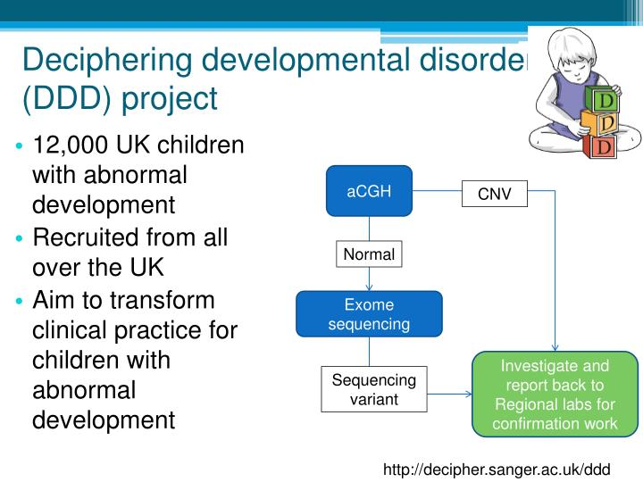 Deciphering developmental disorders (DDD) project