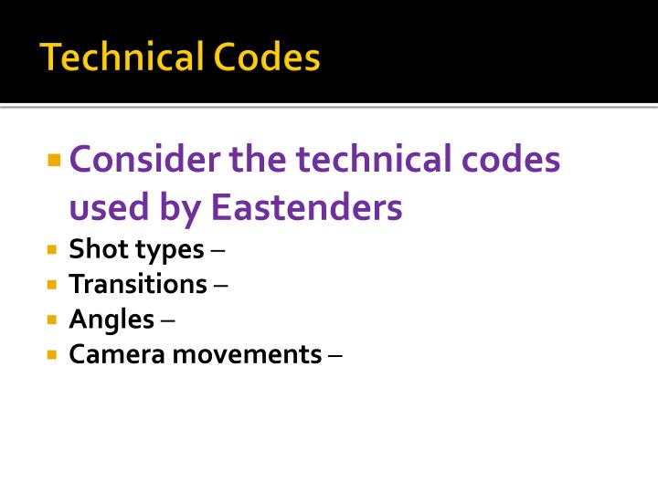 Technical Codes