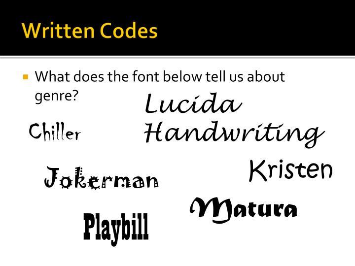 Written Codes