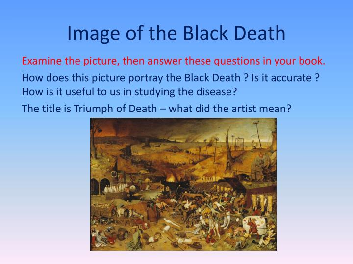 Image of the Black Death