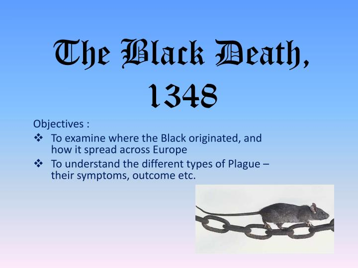 The black death 1348