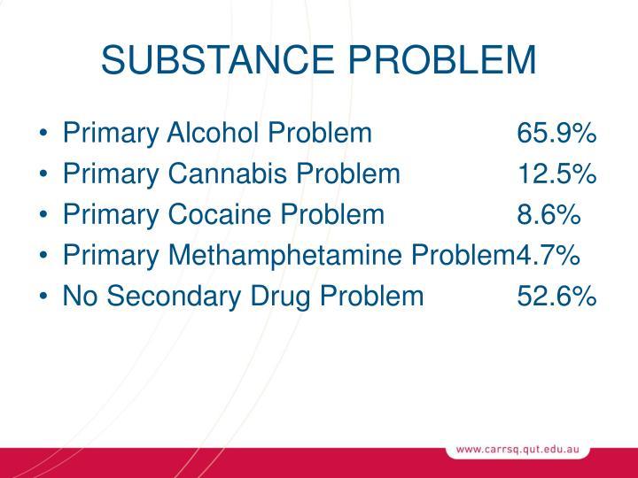 SUBSTANCE PROBLEM