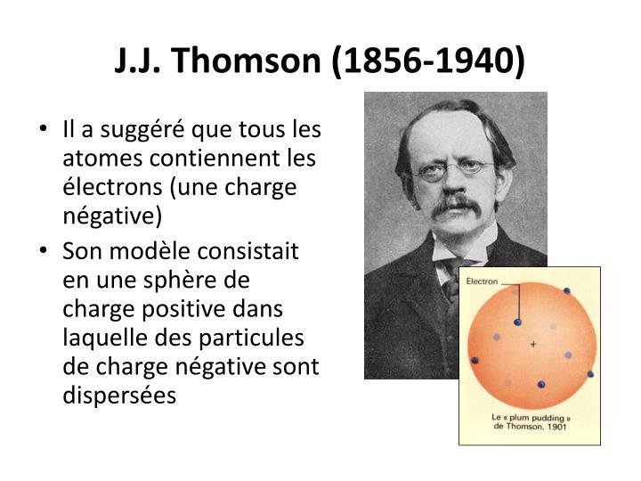 J.J. Thomson (1856-1940)