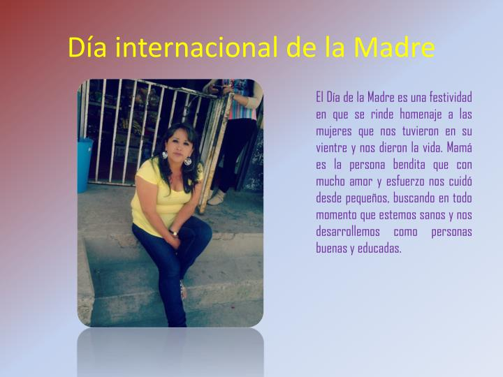 Día internacional de la Madre