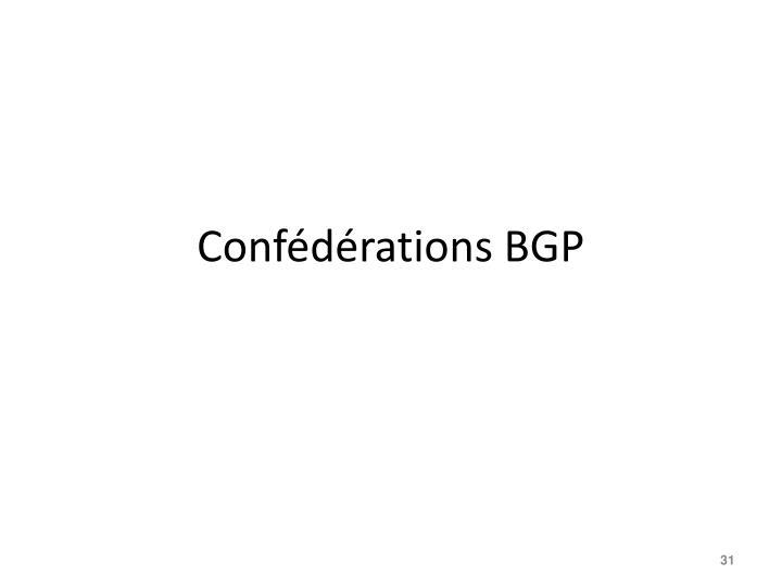 Confédérations BGP