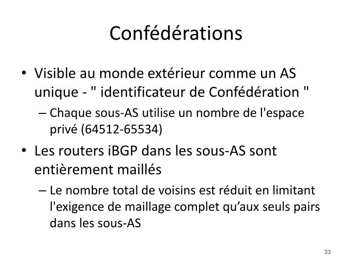Confédérations