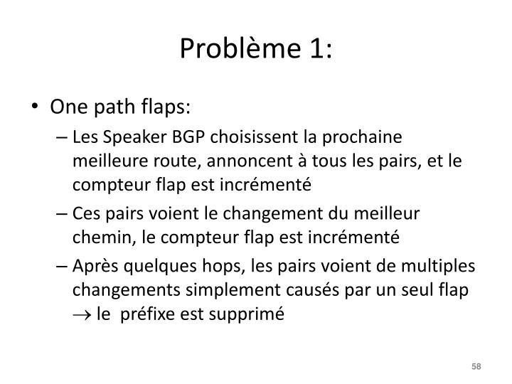 Problème 1: