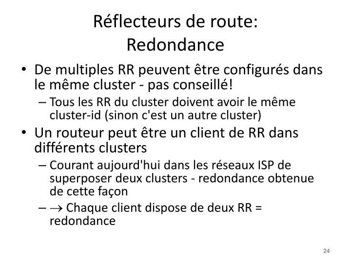 Réflecteurs de route: