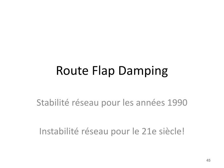 Route Flap Damping