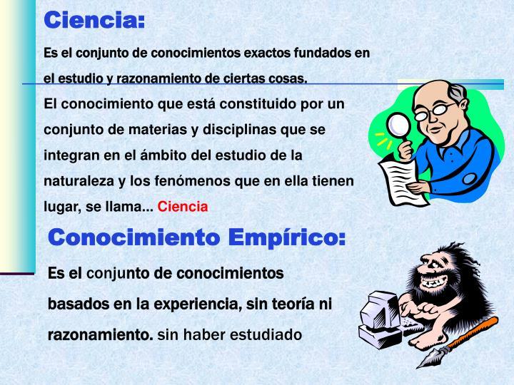 Ciencia: