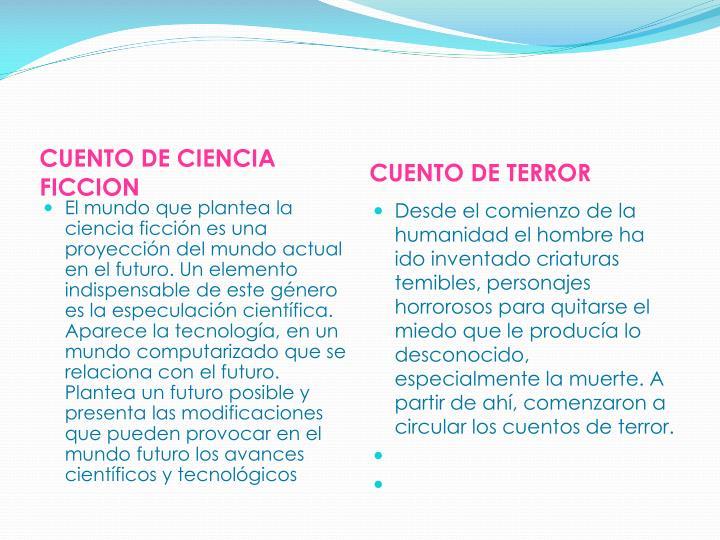 CUENTO DE CIENCIA FICCION