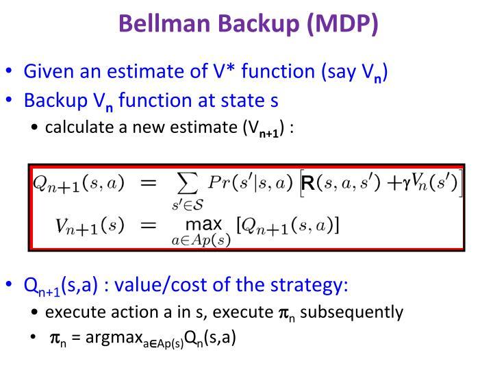 Bellman Backup (