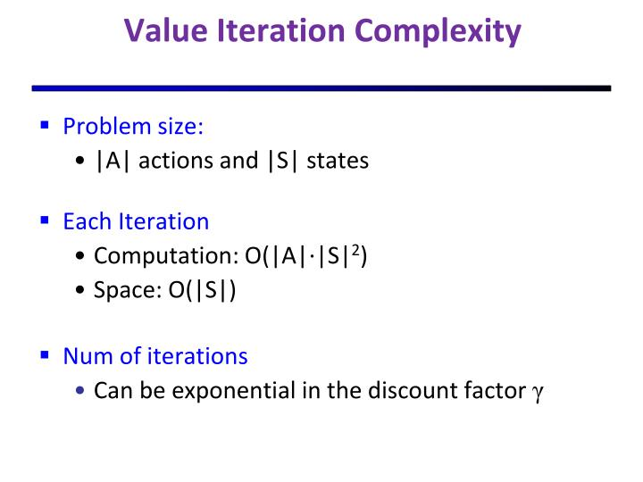 Value Iteration Complexity