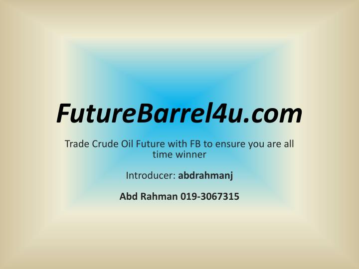 FutureBarrel4u.com
