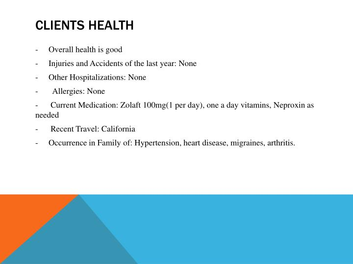 Clients health